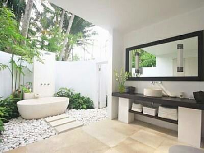 Another great #Outdoorbathroom idea - yo - love this too. Love how the utilities are undercover.