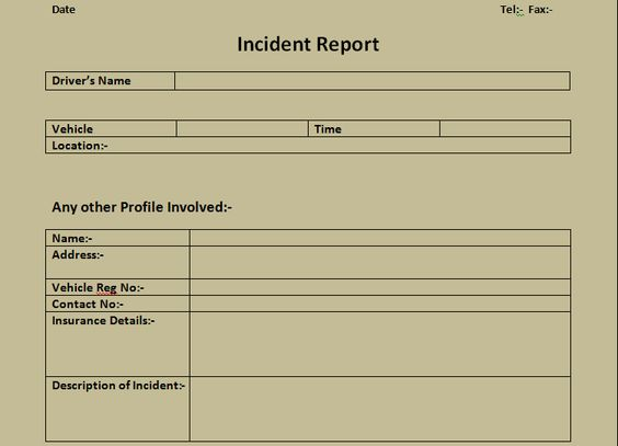Get Incident Report Form Excel Template – Microsoft Office Report Template