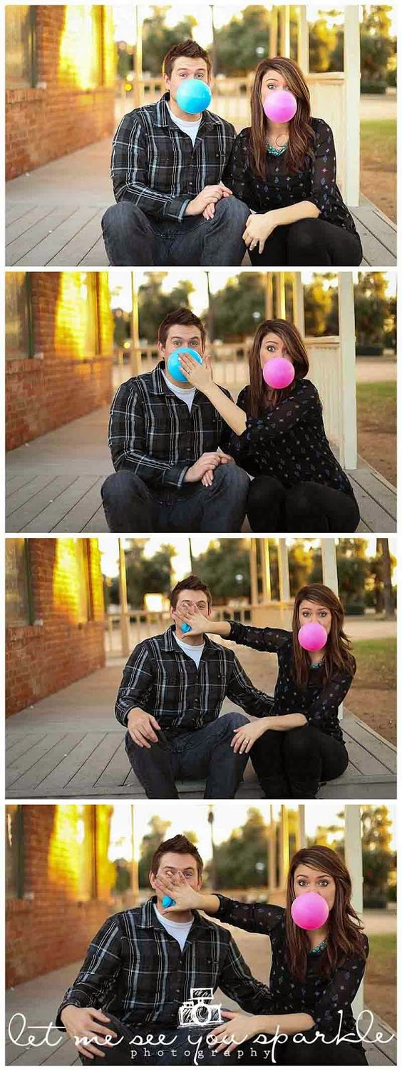Phoenix arizona gender reveal photo session. Use gumballs to reveal the sex of your baby! This was taken at Saguaro Ranch Park | Let me see you Sparkle photography
