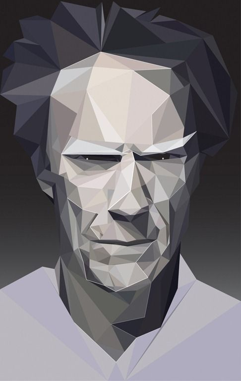 Geometric designs Clint eastwood and Graphic illustration