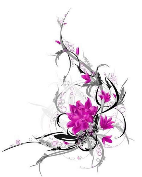 Flower Tattoos, Designs And Ideas : Page 35