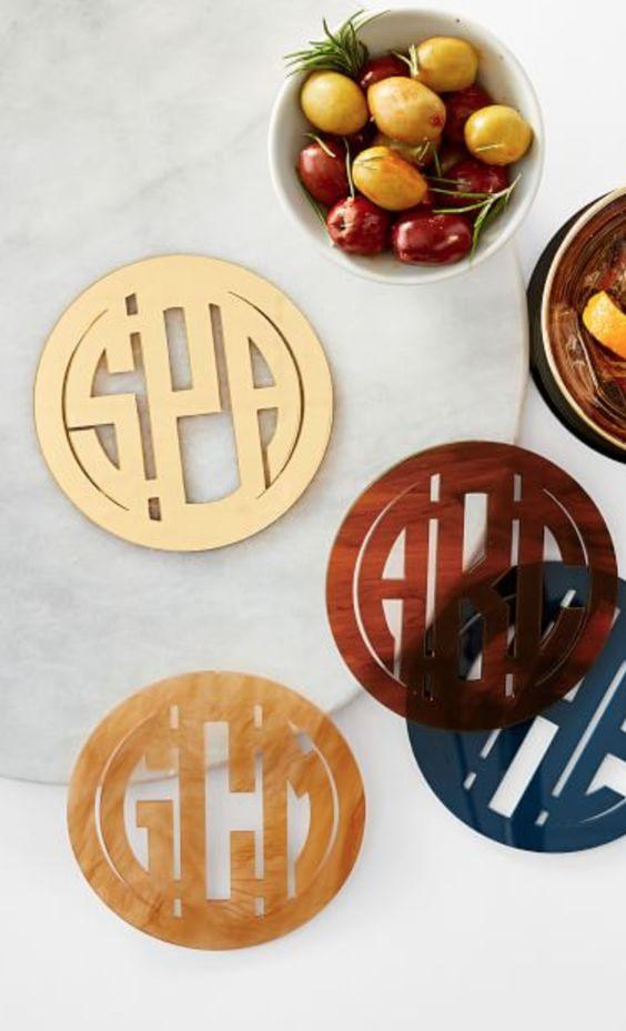 Monogrammed Acrylic Coasters