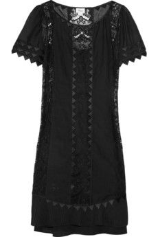 Temperley London  Rodeo lace and cotton-voile dress