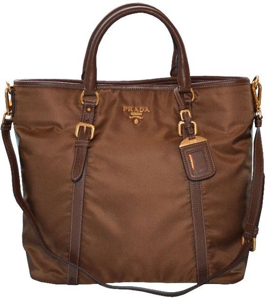 best choice purses - Prada Shopping Nylon Tote with Crossbody Strap - Corinto BN 2031 ...