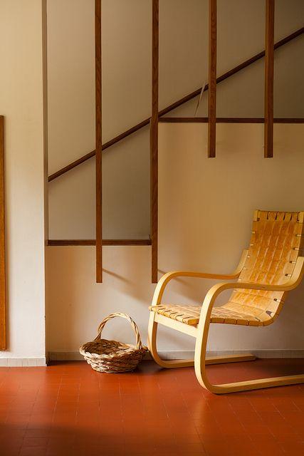 Alvar Aalto's Maison Louis Carré - beautiful stair detail.