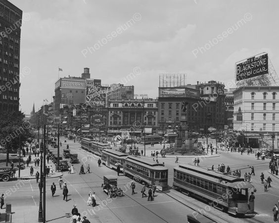 Pictures of Detroit Michigan | Detroit Michigan Busy Street Cars 1900s 8x10 Reprint of Old Photo ...