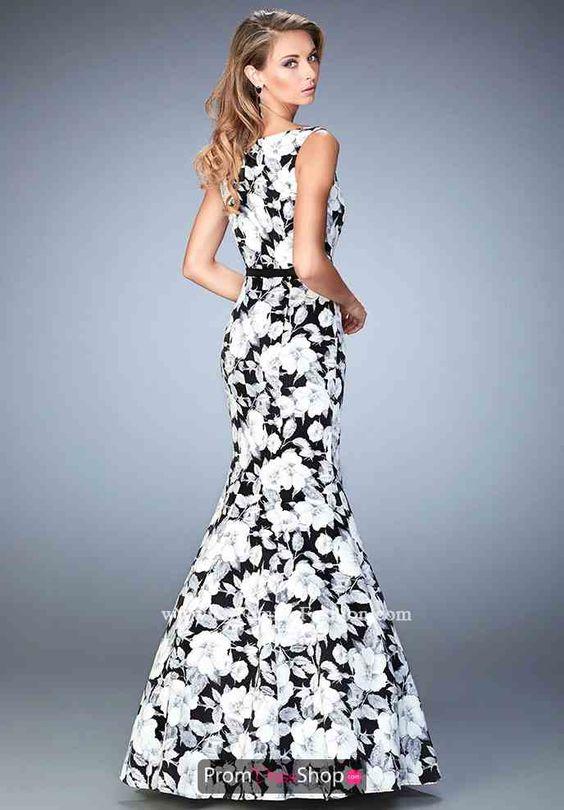 Mermaid Print La Femme Dress 22494