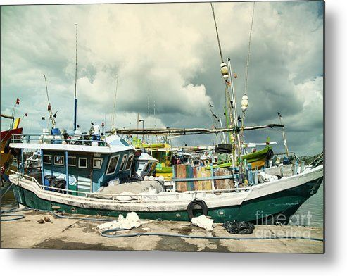 Boats In The Harbour Of Mirissa On The Tropical Island Of Sri Lanka Metal Print By Gina Koch Tropical Islands Sale Artwork Metal Prints