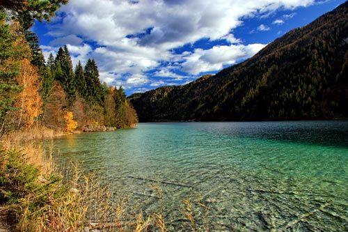 Der Weißensee ist mit 97m der tiefste See Österreichs.
