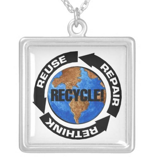 Recycle World Personalized Necklace