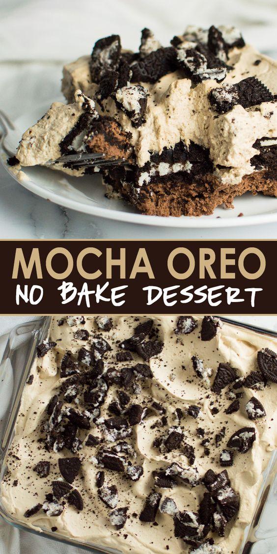 Mocha Oreo No Bake Dessert