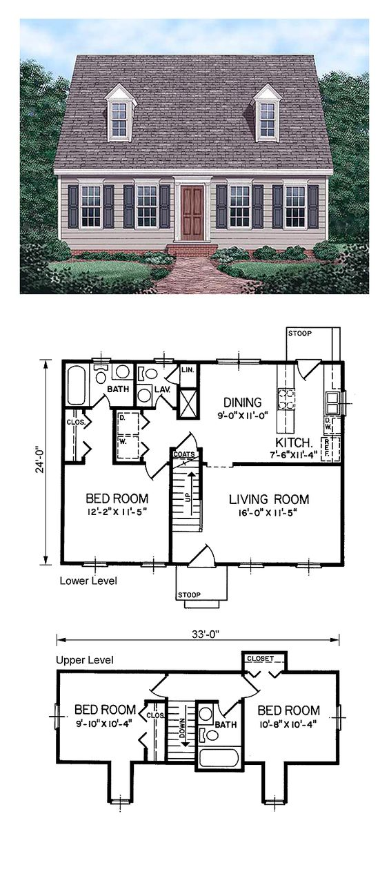 5 Bedroom House Plans 1 Story: House Plans, Floors And Cape Cod On Pinterest