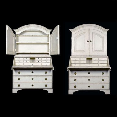 Secretaire in antique white. H74 x W41 x D18 in. $4995. I'd use it to keep my art supplies.