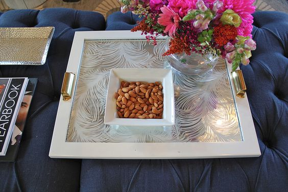 how to make a tray from a picture frame