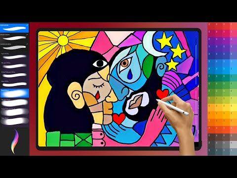 كيفيه الرسم التكعيبي الفن التشكيلي ـ تعليم الرسم Youtube Drawings