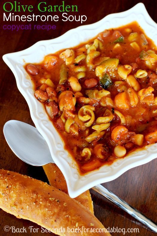 Olive garden minestrone soup copycat recipe gardens - Minestrone soup olive garden recipe ...