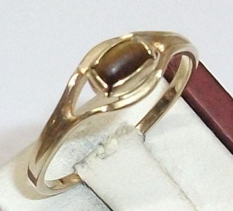 Vintage Ringe - 333er Goldring mit Tigerauge 17,8 mm GR114 - ein Designerstück…
