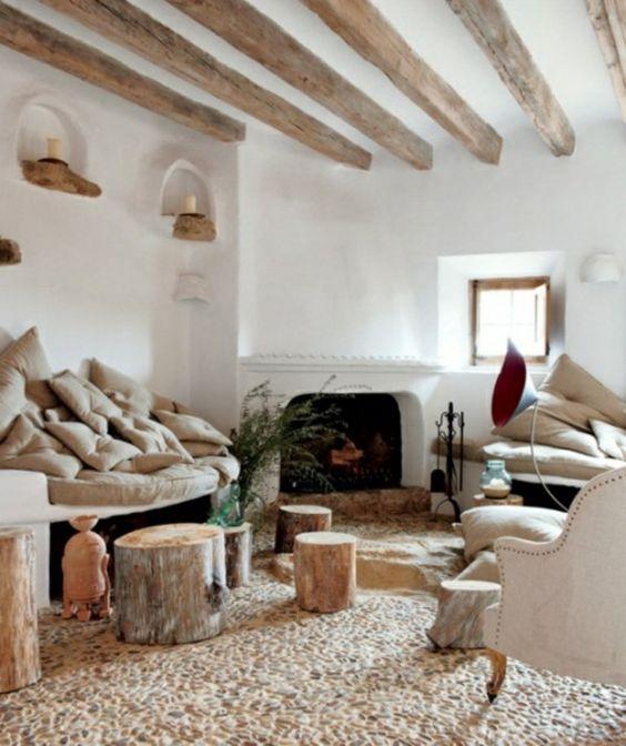 dekoideen im wohnzimmer 21 kreative deko ideen aus baumstumpf, Garten und Bauen