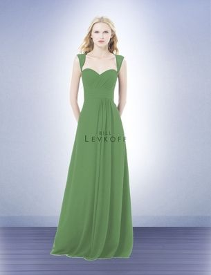 Chiffon V-Neck Wrapped Bodice Bridesmaid Dress with Satin Belt ...