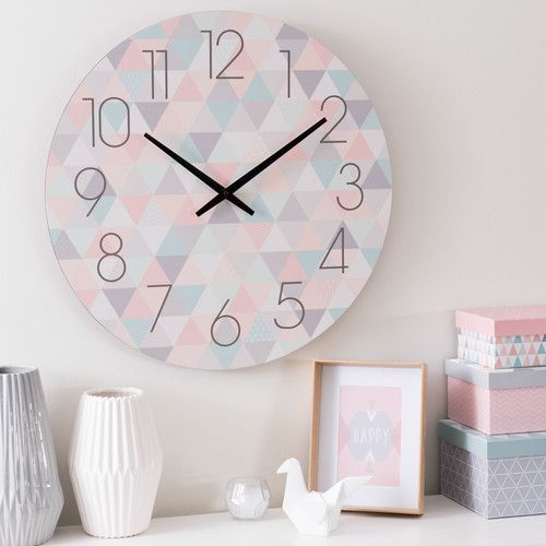 horloge en bois pastel d 50 cm zo mdm contemporain pinterest maison du monde chambre. Black Bedroom Furniture Sets. Home Design Ideas