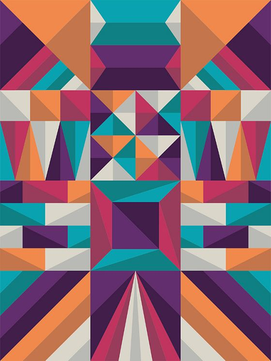 Worksheets Shape Design Patterns geometric shapes by jin young park via behance state of mind graphic design google search