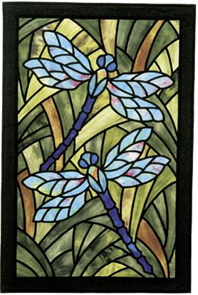 Dragonfly Garden Stained Glass Quilt Pattern