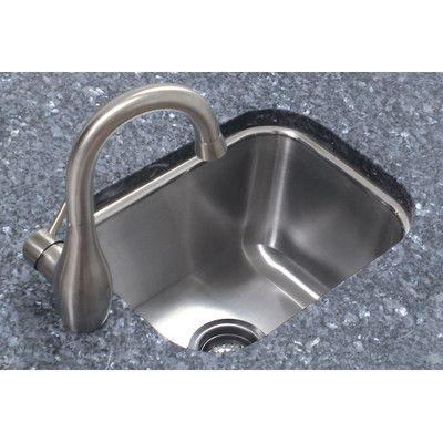 "A-Line by Advance Tabco 12.5"" x 16.5"" Single Bowl Undermount Prep Kitchen Sink"