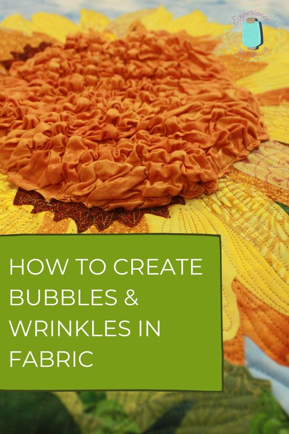 Learn how to add bubbles and wrinkles in fabric to add texture and dimension to your quilt or sewing project! Supplies needed: Supplies needed: 1. Ironing Board and iron 2. Spray bottle 3. Fabric 4. Pencil 5. Cooling Rack 6. Mid Weight Fusible Interfacing #fabrictechniques #sewingtips #quiltingtechniques #artquilts #fabricbubbles #texturedfabrics #learntosew #uniquequilts #funwithfabric #sewingeducation #learntoquil