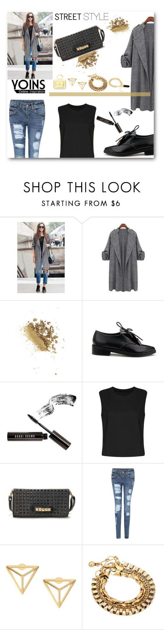 """""""Street Style - YOINS - Set"""" by joana-santos-duarte ❤ liked on Polyvore featuring Topshop and Bobbi Brown Cosmetics"""