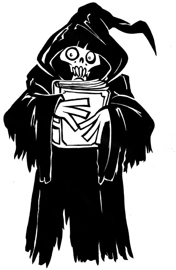 ghost holding book   Halloween coloring book   Pinterest   Ghosts and Book