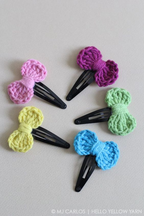 DIY your own crochet hair accessories with this pattern