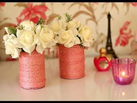 DIY - Vasos para decorar a casa. Faça você mesmo. Luiza Gomes