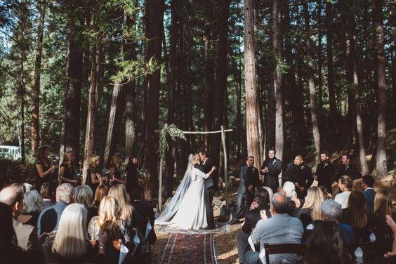 Bohemian Forest Ceremony / Wedding Style Inspiration / LANE