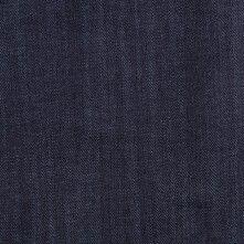 Dark Blue Solid Cotton Denim