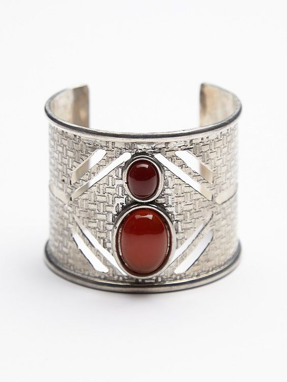 Free People Embossed Plate Cuff at Free People Clothing Boutique