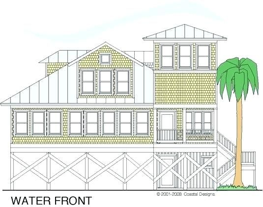 House Plans For Views To Rear House Plans With A View Of The Water Image Of Cedar Point 3 Beach Cotta Coastal Homes Coastal Bedrooms Coastal Bedroom Decorating