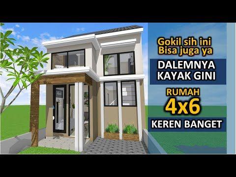 Cerdas Desain Rumah 4x6 Mungil 3 Kamar Youtube Desain Rumah Kecil Desain Rumah Denah Rumah Pedesaan