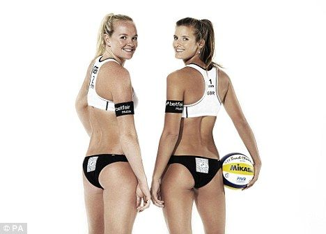 Let the Games begin: Shauna Mullin (left) and Zara Dampney (right) of Great Britain!