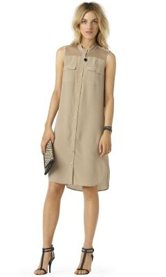 Lucas Silk Shirtdress - Club Monaco Dresses - Club Monaco