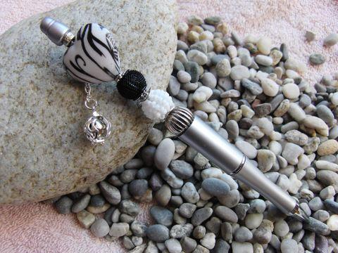 Kugelschreiber mit Schmuckperlen und Engelsrufer