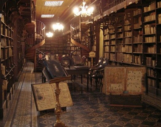 The Monastery Library at San Francisco Monastery and Church in Lima, Peru.