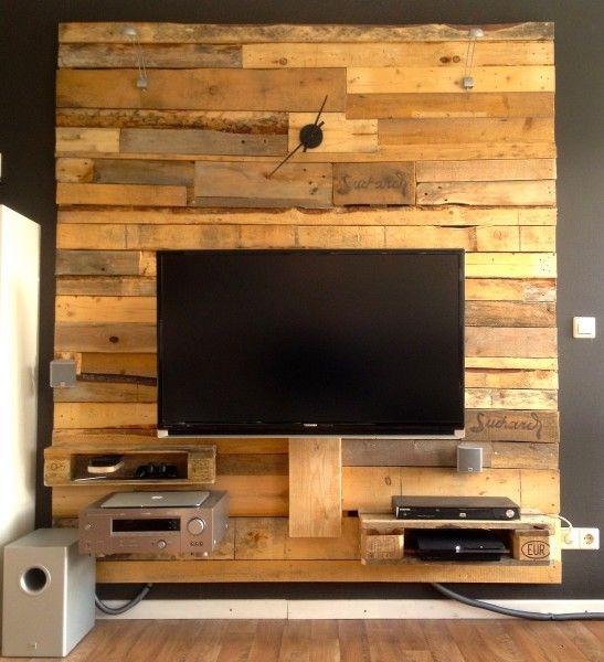 tv-wand ?   rund ums haus   pinterest   wand, tvs and pallets - Wohnideen Tv Wand