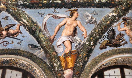 Venus en su carro tirado por palomas, de Raffaello Sanzio