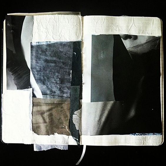 my hand made paper collage/series/abstract/sketchbook/art/mixed media/