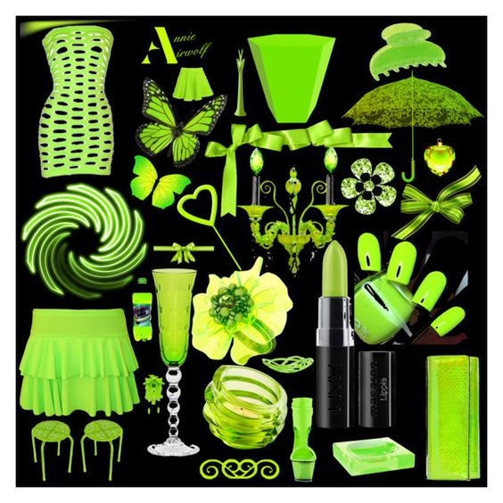 """""""Neon Green"""" by annieairwolf ❤ liked on Polyvore featuring art"""