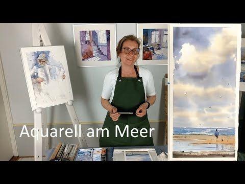 Aquarell Strandmotiv Schritt Fur Schritt Erklart Youtube Aquarell Strand Aquarell Aquarellfarben