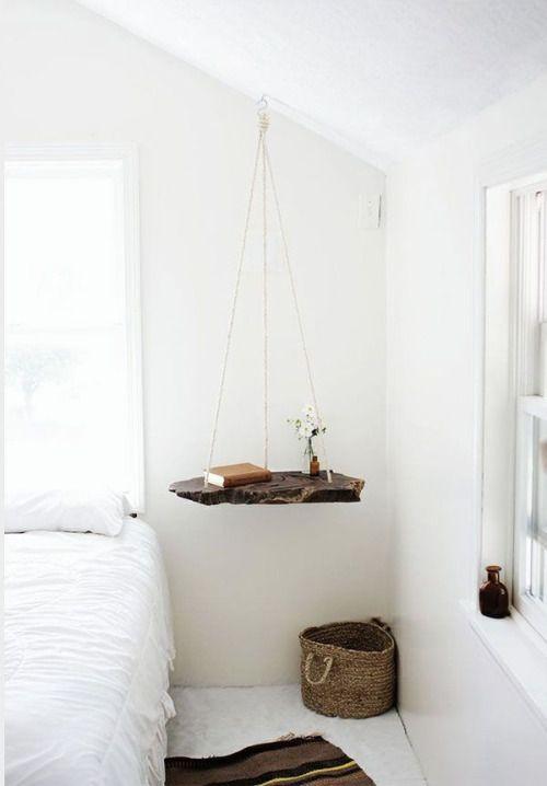 criados mudos criativos para usar na decoração do quarto, criado mudo suspenso: