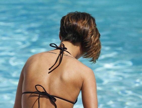 The back of her hair cut. Frankie Sandford
