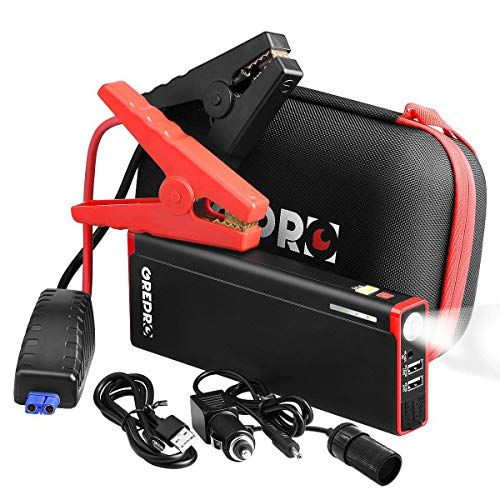 Grepro Car Battery Jump Starter 1500a Peak 21000mah Portable Jump Start Pack 12v Auto Battery Booster Up To 8 0 L Gas 6 5l Diesel Power Pack With Led Light Car Battery Jump