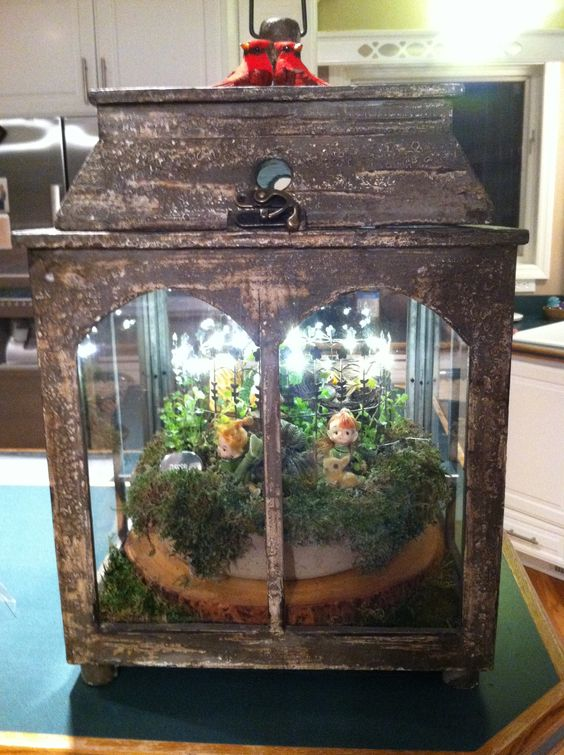 Fairy Garden Terrarium Craft projects Pinterest